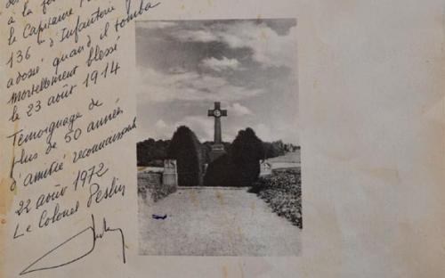 Document signé par le Colonel Peslin, fils de Charles Peslin